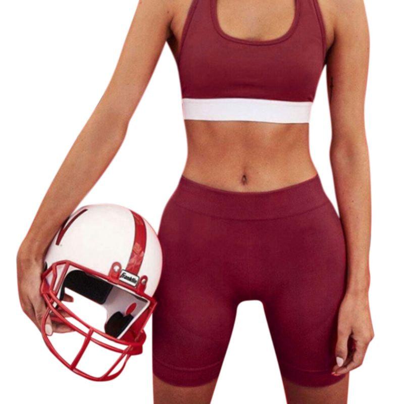 Women's Sport Fitness Leggings, Above Knee, High Waist, Workout Or Bike Shorts 16