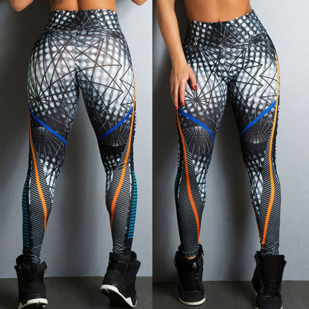 Streetwear Style, Sexy Leggings, Women's Fitness Leggings, High Waist, Elastic Push Up Workout Pants 15