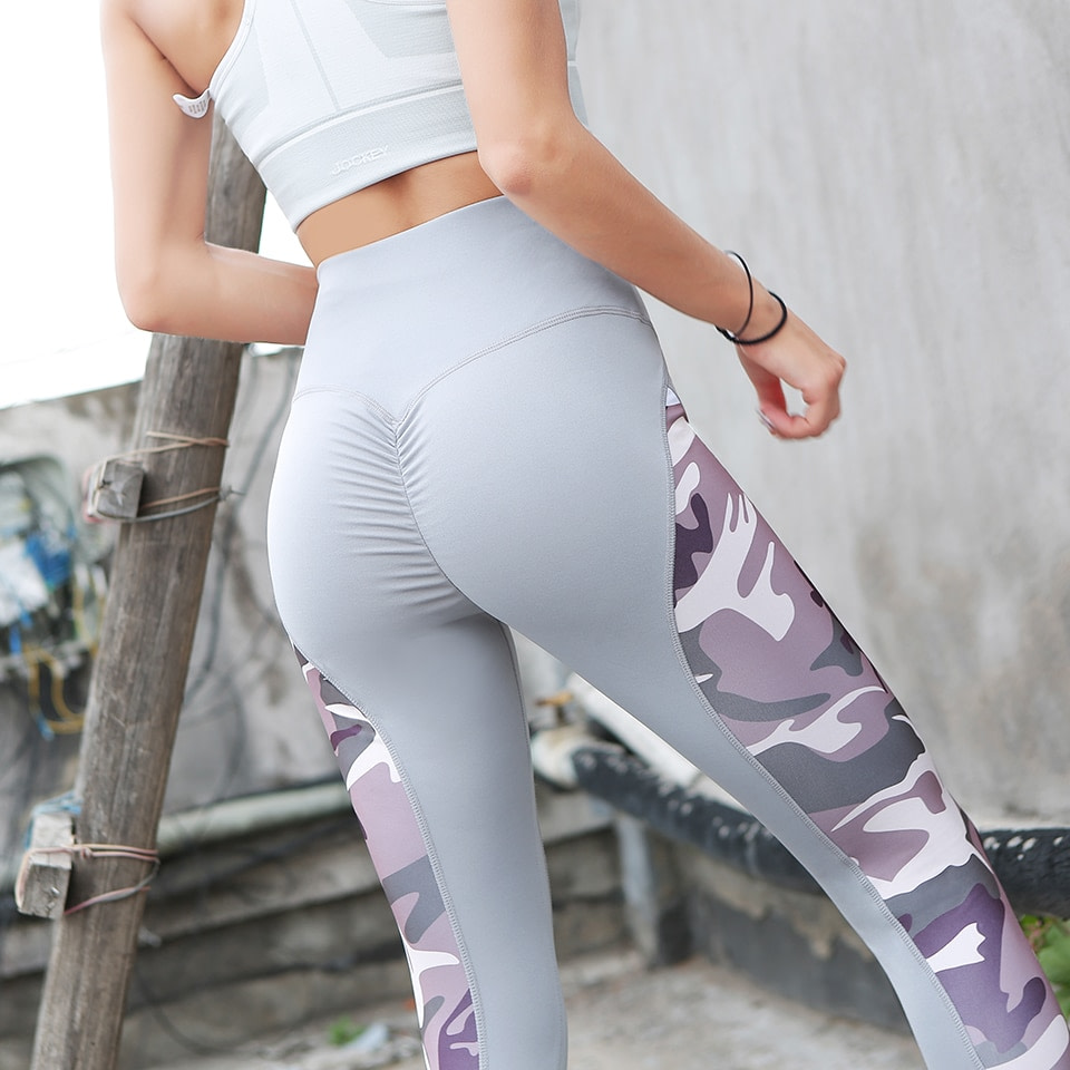Leggings Women's Polyester Camouflage Push Up Leggings, Fitness Pants, Workout Activewear Clothing 25