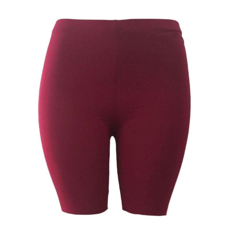 Women's Sport Fitness Leggings, Above Knee, High Waist, Workout Or Bike Shorts 19