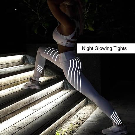Noctilucent Women's Workout Leggings, Women's Leggings Women Fitness Night Glowing Leggings 1