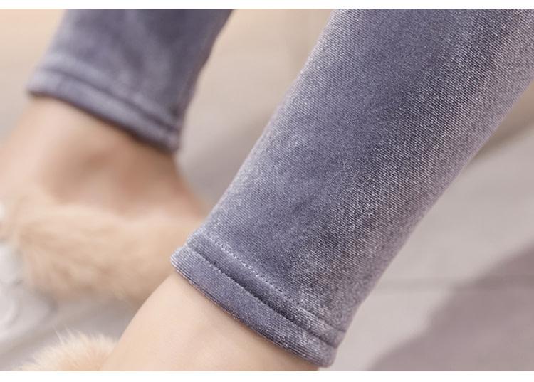 New Velour Thin Women's Leggings, Solid Color, High Waist Fashion Leggings 31