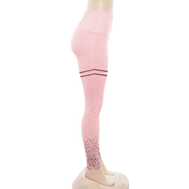 New Stretch Bronzing Print Leggings, Women Workout Leggings, High Waist Pants 21