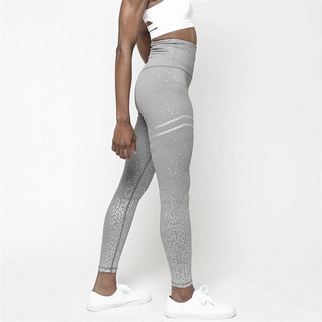 New Stretch Bronzing Print Leggings, Women Workout Leggings, High Waist Pants 4