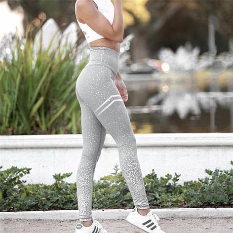 New Stretch Bronzing Print Leggings, Women Workout Leggings, High Waist Pants 3