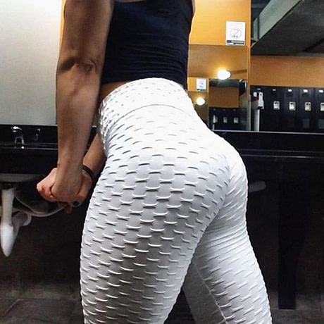 Women's High Waist Fitness Leggings, Fashion Push Up  Spandex Pants, Workout Leggings 5