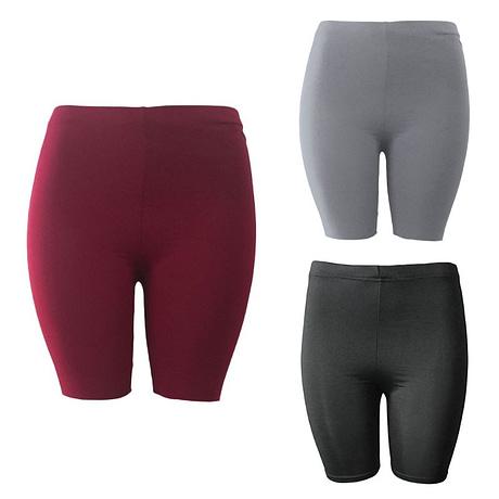 Women's Sport Fitness Leggings, Above Knee, High Waist, Workout Or Bike Shorts 4