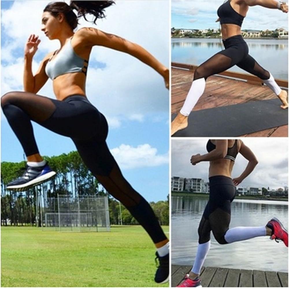 Casual Leggings Women Fitness Leggings Color Block Workout Pants New Arrival Mesh Insert Leggings 15
