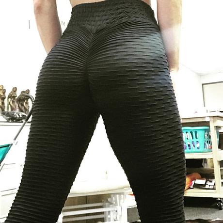 Women's High Waist Fitness Leggings, Fashion Push Up  Spandex Pants, Workout Leggings 4