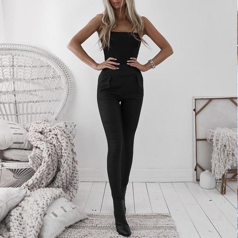 Black Sexy Women's Leggings, Thin Faux Leather Stretchy Leggings, Back Zipper Push Up Leggings 2