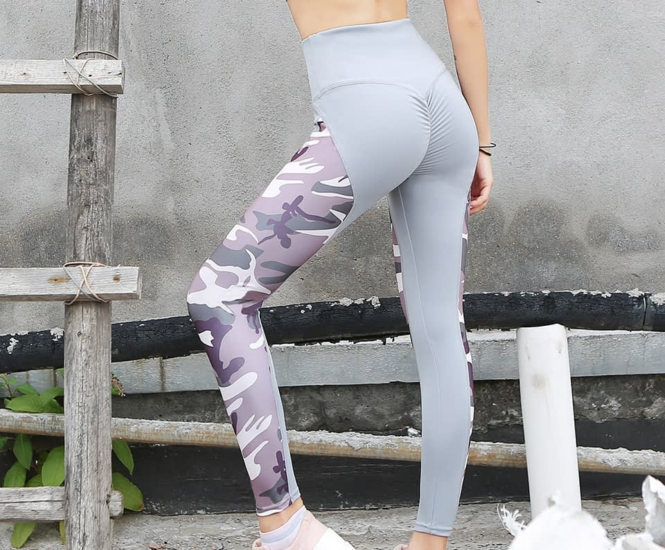 Leggings Women's Polyester Camouflage Push Up Leggings, Fitness Pants, Workout Activewear Clothing 27