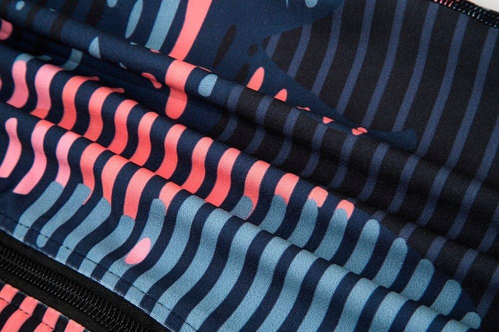 New Sport Suit Print Fitness Suit Leggings Breathable Yoga Set 2 Piece Zipper Sportswear T-shirt Sport Pants Tracksuit For Women 19