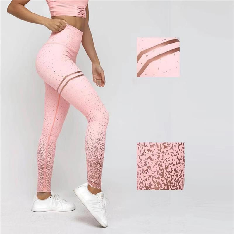 New Stretch Bronzing Print Leggings, Women Workout Leggings, High Waist Pants 11
