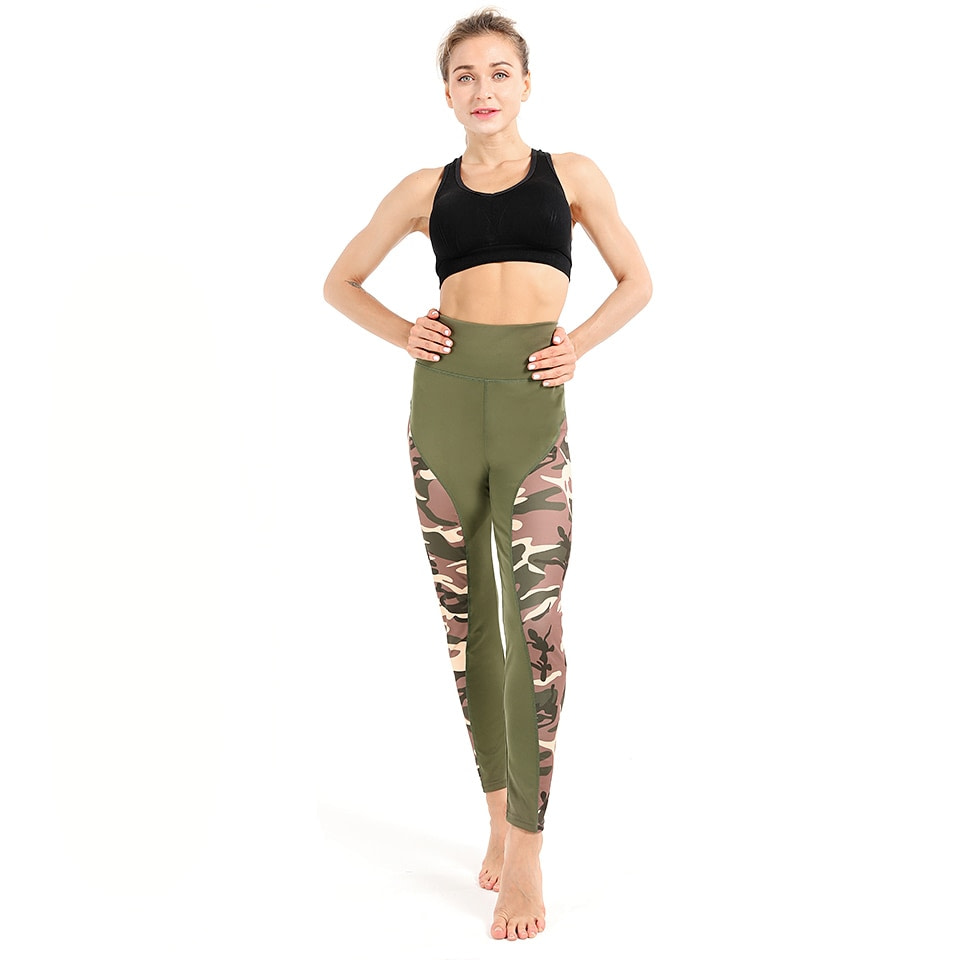 Leggings Women's Polyester Camouflage Push Up Leggings, Fitness Pants, Workout Activewear Clothing 29