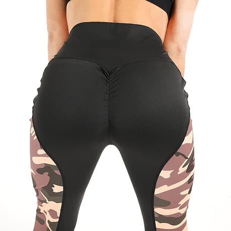 Leggings Women's Polyester Camouflage Push Up Leggings, Fitness Pants, Workout Activewear Clothing 5