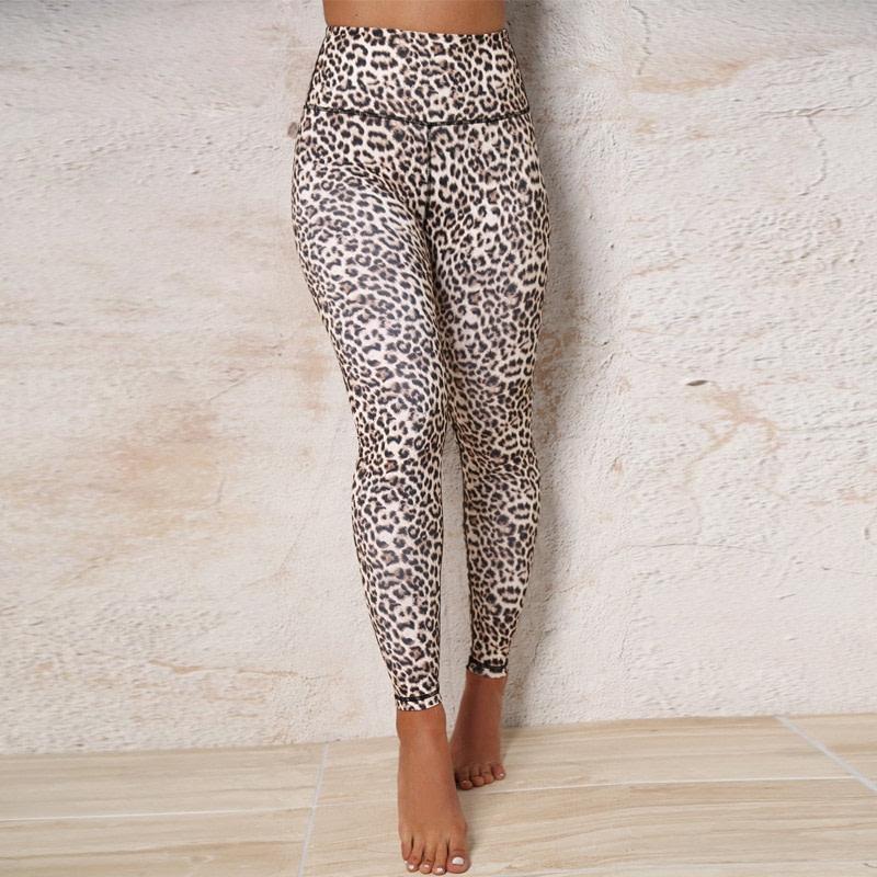 High Waist Leopard Leggings, Women's Casual Legging 14