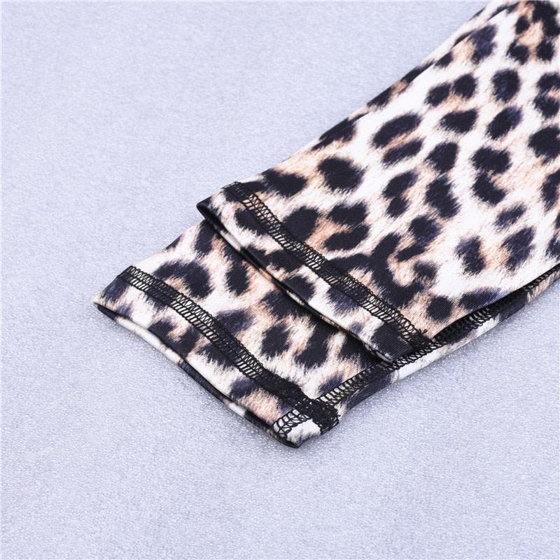 High Waist Leopard Leggings, Women's Casual Legging 19