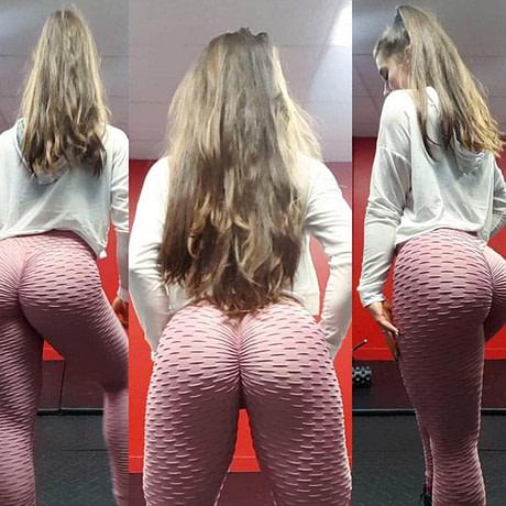 Women's High Waist Fitness Leggings, Fashion Push Up  Spandex Pants, Workout Leggings 1