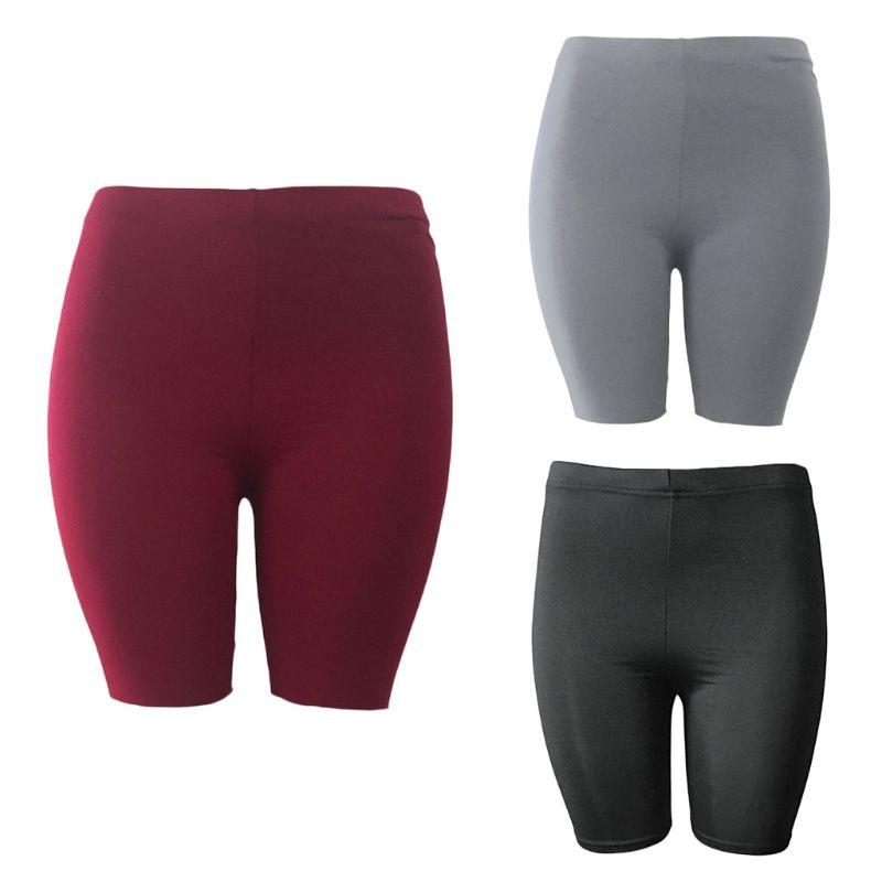 Women's Sport Fitness Leggings, Above Knee, High Waist, Workout Or Bike Shorts 9