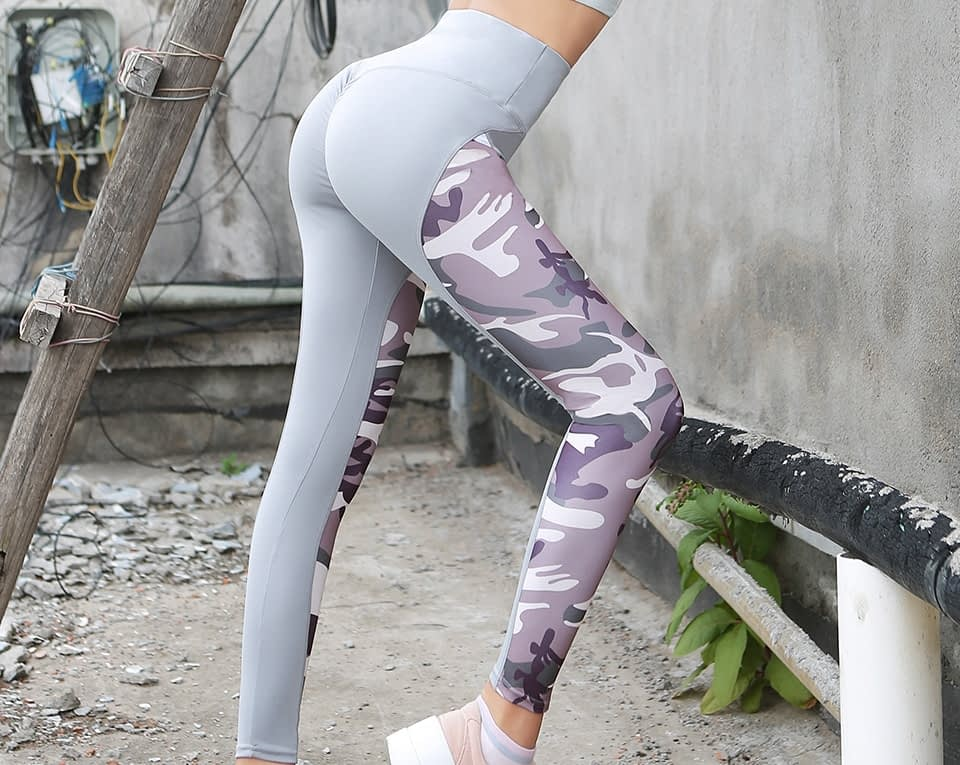 Leggings Women's Polyester Camouflage Push Up Leggings, Fitness Pants, Workout Activewear Clothing 26