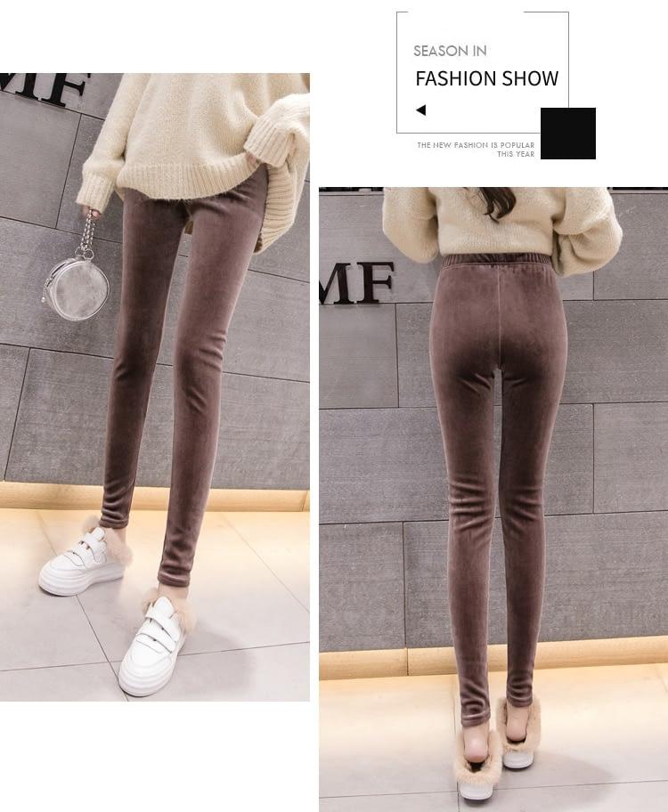 New Velour Thin Women's Leggings, Solid Color, High Waist Fashion Leggings 26
