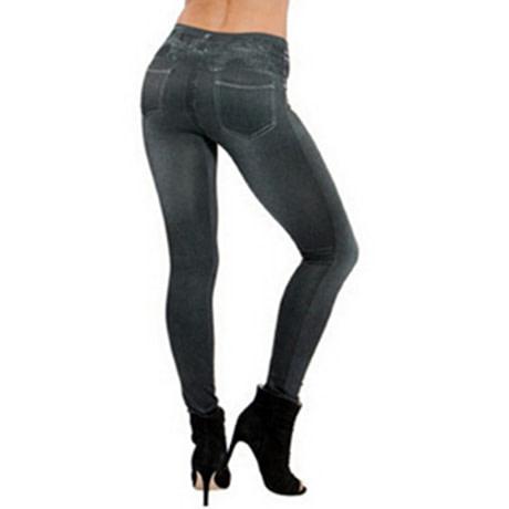 Leggings Jeans, Women's Denim Pants, Pocket Leggings 2