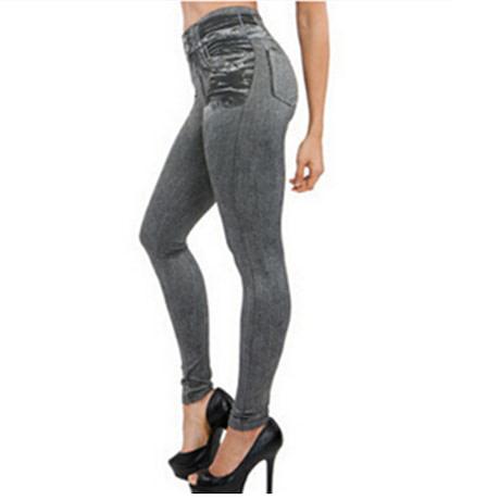 Leggings Jeans, Women's Denim Pants, Pocket Leggings 1