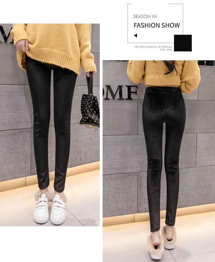 New Velour Thin Women's Leggings, Solid Color, High Waist Fashion Leggings 14