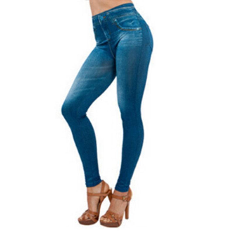 Leggings Jeans, Women's Denim Pants, Pocket Leggings 5
