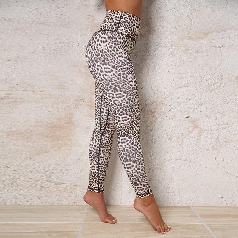 High Waist Leopard Leggings, Women's Casual Legging 13