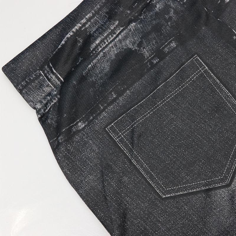 Leggings Jeans, Women's Denim Pants, Pocket Leggings 16