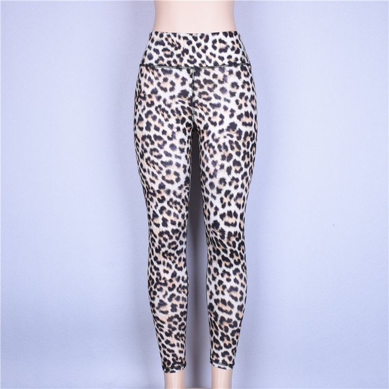 High Waist Leopard Leggings, Women's Casual Legging 16