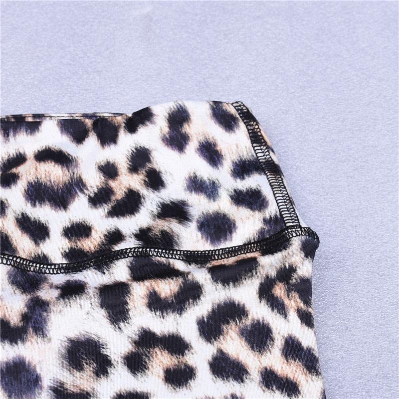 High Waist Leopard Leggings, Women's Casual Legging 18