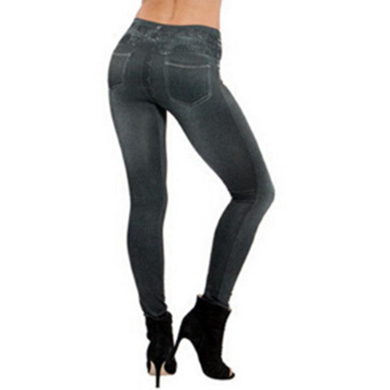 Leggings Jeans, Women's Denim Pants, Pocket Leggings 8