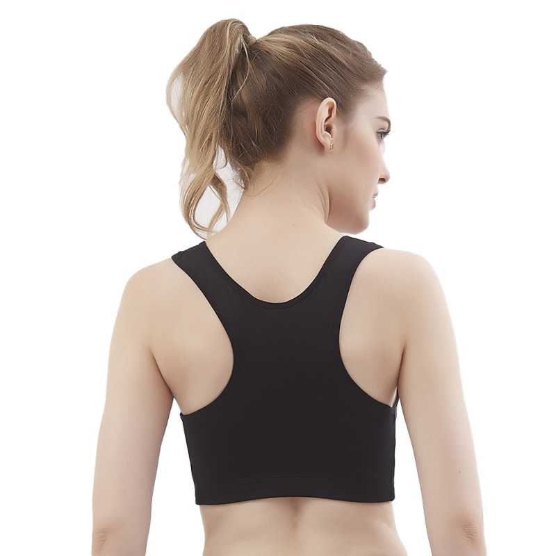Women's Sport Bra, Wire Free, Front Zipper, Push Up, Shockproof Seamless Padded Stretch Tank Top 6