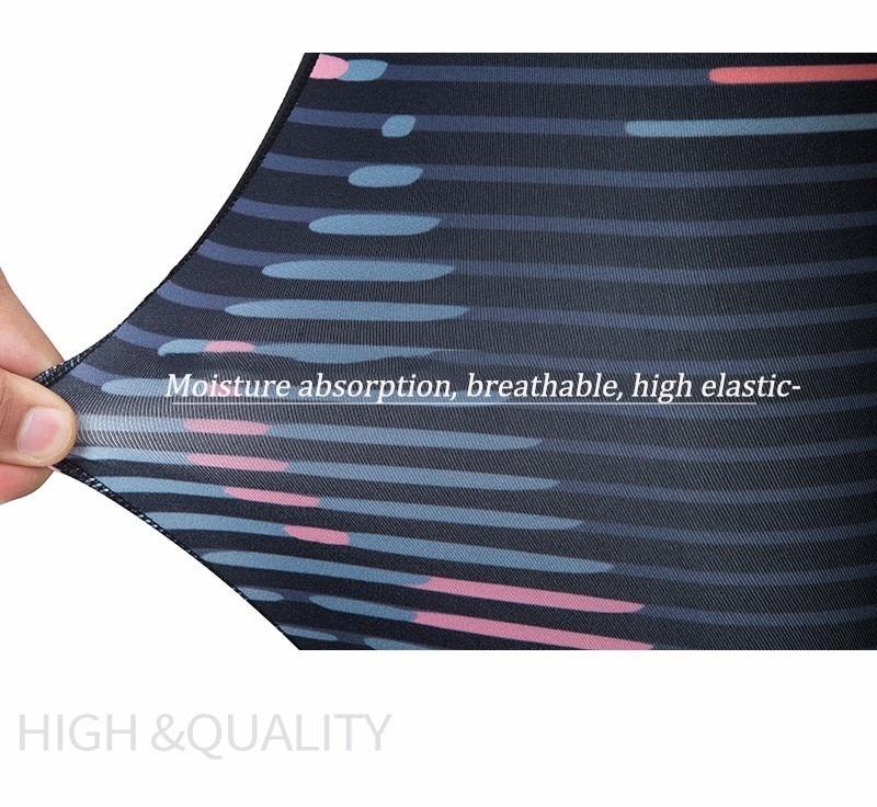 New Sport Suit Print Fitness Suit Leggings Breathable Yoga Set 2 Piece Zipper Sportswear T-shirt Sport Pants Tracksuit For Women 4