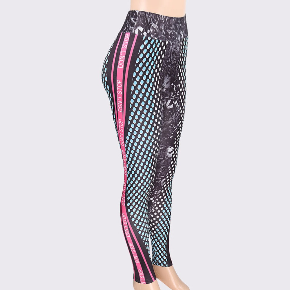 New Honeycomb Letter Printed Women's Fitness Leggings, High Waist, Elastic Push Up Legging Workout Leggings 17