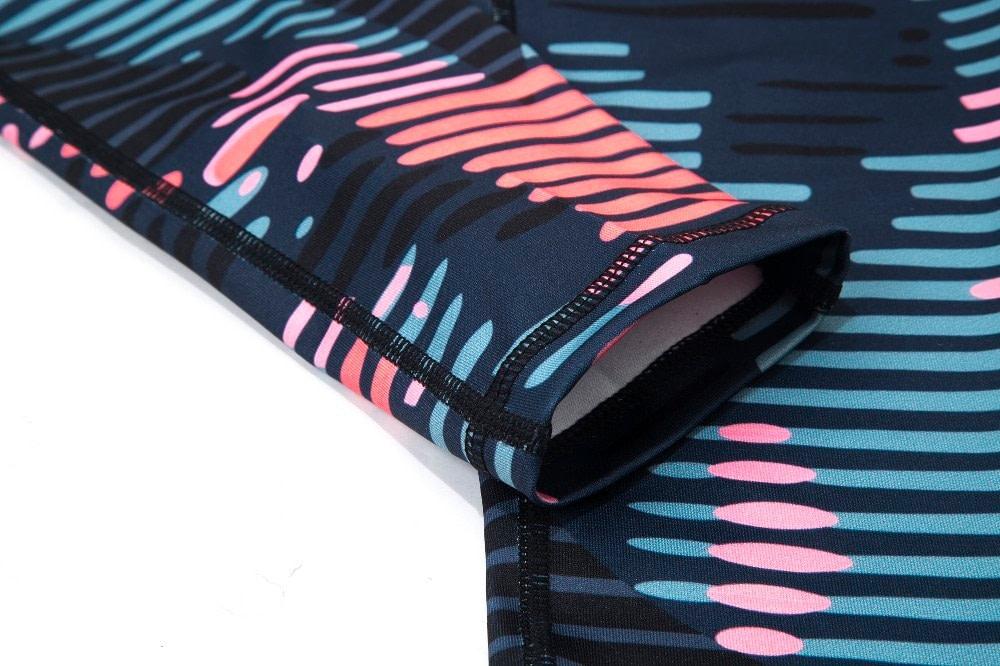 New Sport Suit Print Fitness Suit Leggings Breathable Yoga Set 2 Piece Zipper Sportswear T-shirt Sport Pants Tracksuit For Women 21