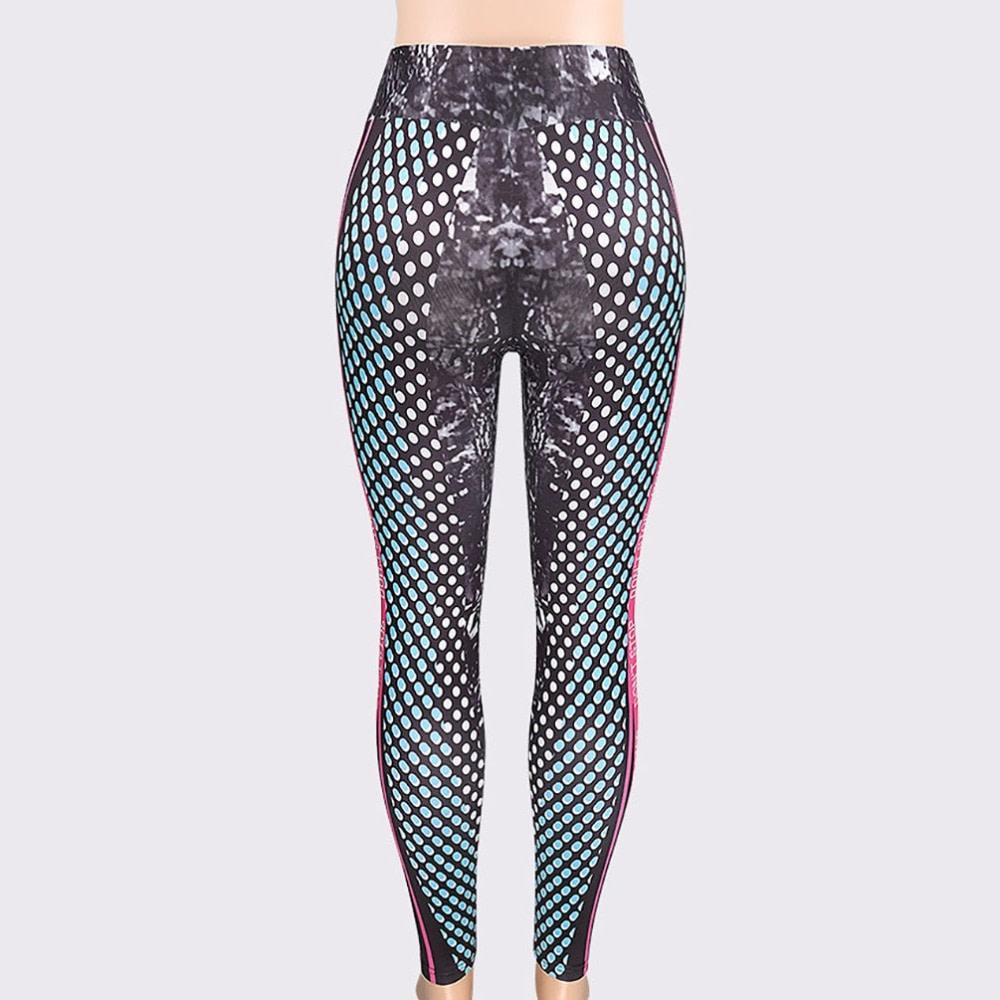 New Honeycomb Letter Printed Women's Fitness Leggings, High Waist, Elastic Push Up Legging Workout Leggings 16