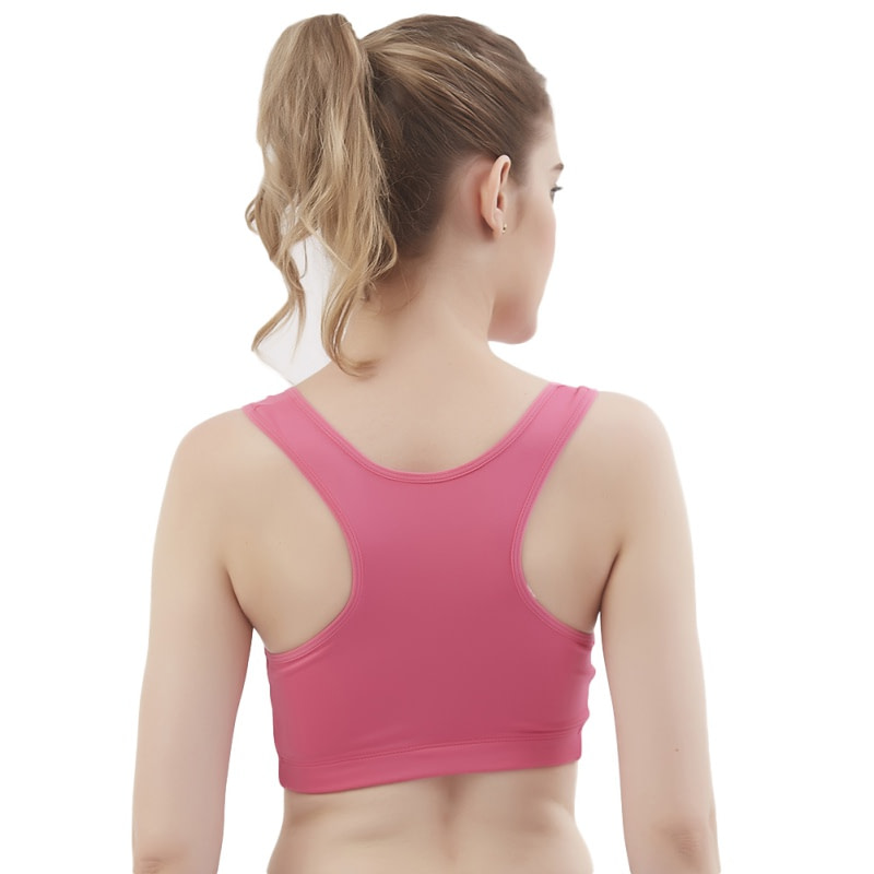 Women's Sport Bra, Wire Free, Front Zipper, Push Up, Shockproof Seamless Padded Stretch Tank Top 2