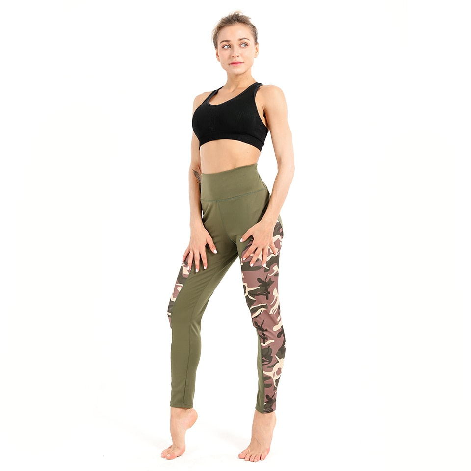 Leggings Women's Polyester Camouflage Push Up Leggings, Fitness Pants, Workout Activewear Clothing 28