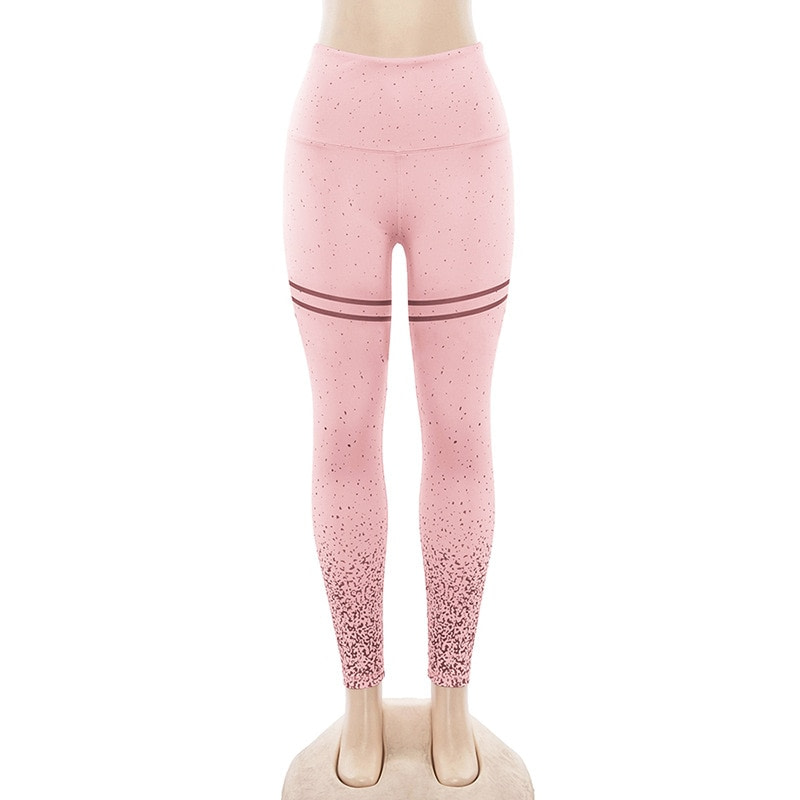 New Stretch Bronzing Print Leggings, Women Workout Leggings, High Waist Pants 20