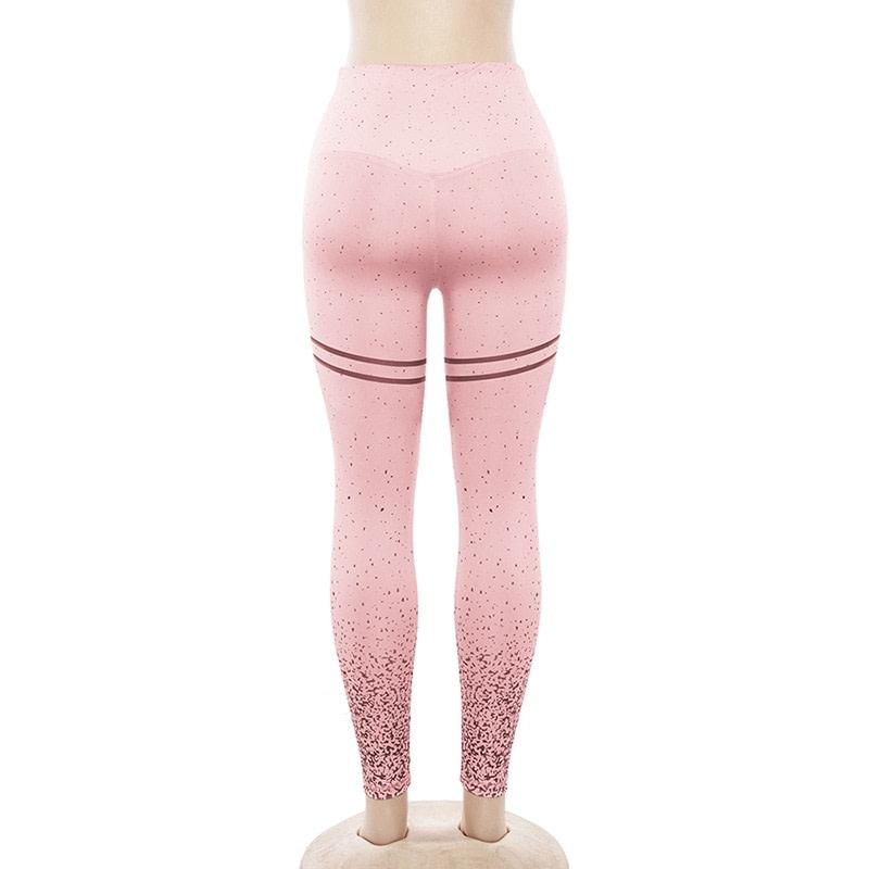 New Stretch Bronzing Print Leggings, Women Workout Leggings, High Waist Pants 22